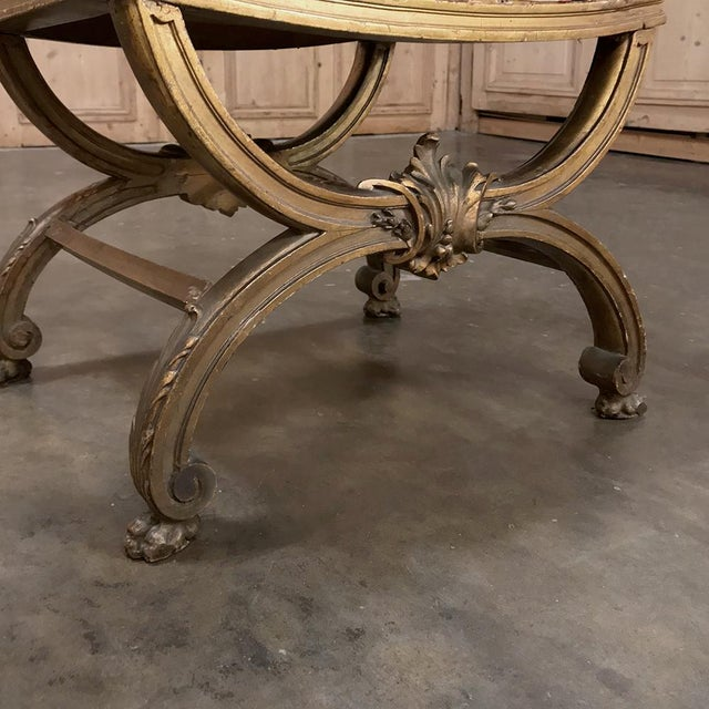 19th Century Giltwood Vanity Stool For Sale - Image 10 of 11