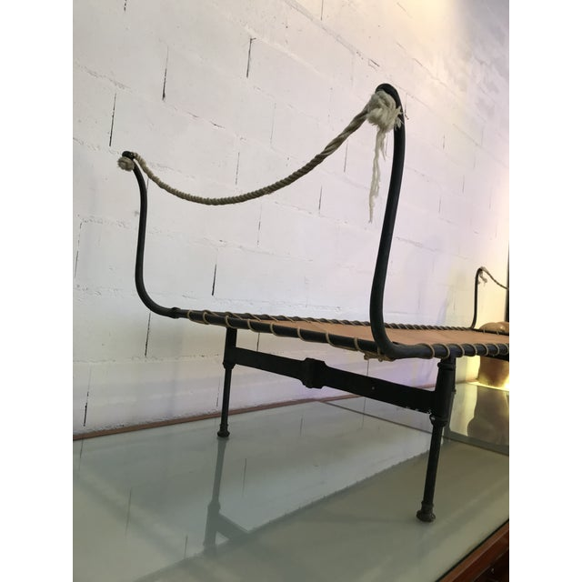 Black 19th Century Antique French Campaign Daybed For Sale - Image 8 of 11