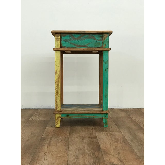 Reclaimed Wood Nightstand For Sale - Image 4 of 5