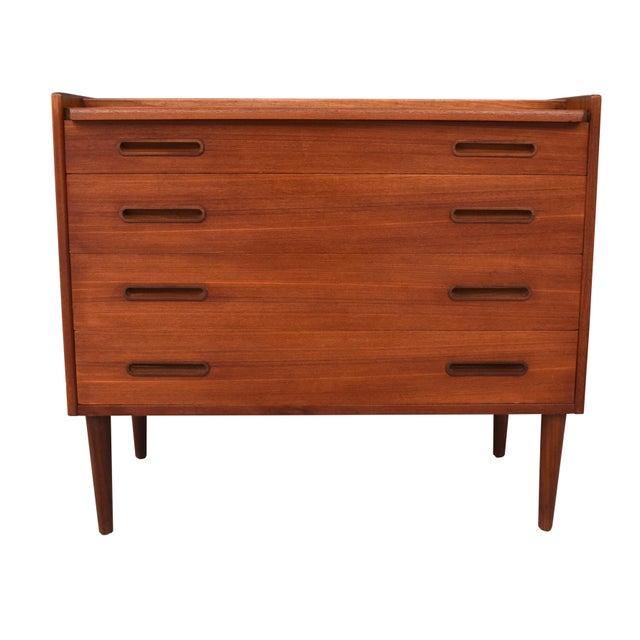 Danish Modern Teak Vanity Dresser For Sale - Image 4 of 10