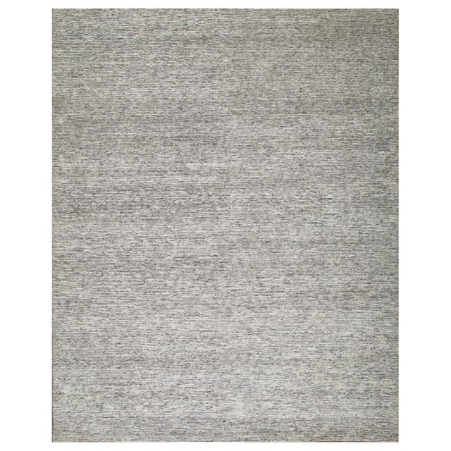 2010s Stark Studio Rugs Contemporary Oriental Bamboo Silk and Wool Rug - 6' X 9' For Sale - Image 5 of 5
