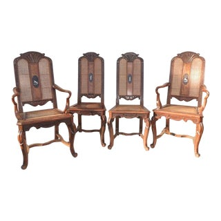 Early 20th Century Vintage French Dining Chairs - Set of 4 For Sale