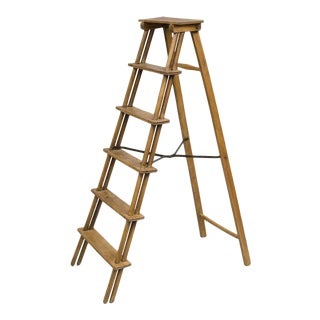 French Fruitwood Step Ladder For Sale