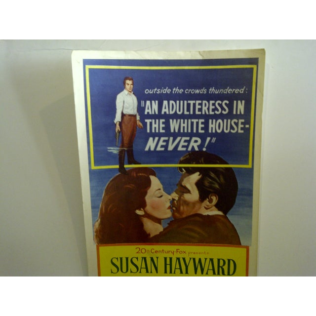 """Vintage Movie Poster """"The Presidents Lady"""" Charlton Heston - 1953 For Sale - Image 4 of 7"""