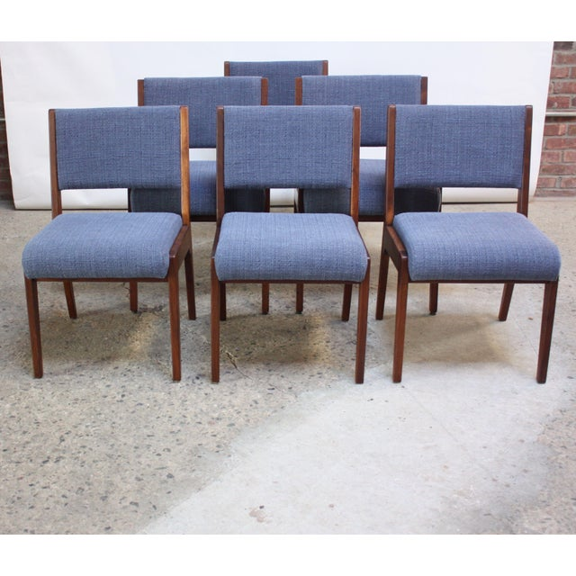 Set of Six Walnut Dining Chairs by Jens Risom - Image 2 of 11