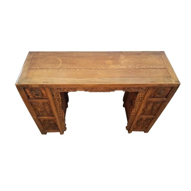 Vintage Asian Carved Desk - Image 2 of 7