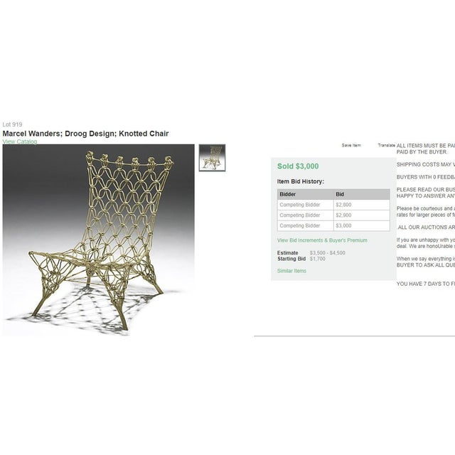 1990s Vintage Marcel Wanders for Droog Design Knotted Chair For Sale - Image 12 of 13