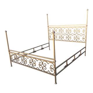 """Vintage Kreiss """"Valencia"""" Iron Bed"""