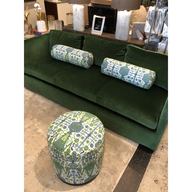 Not Yet Made - Made To Order Keeneth Ludwig Chicago Highland House Emerald Green Velvet Sofa For Sale - Image 5 of 11