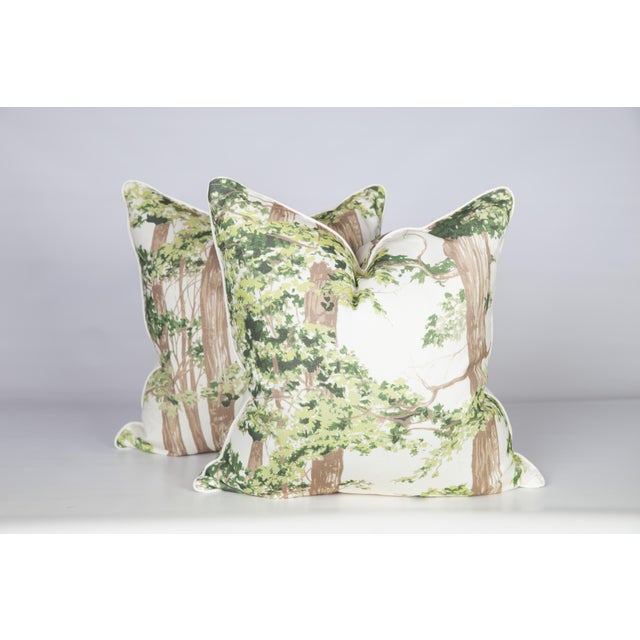 Custom Green Woodland Pillows - A Pair - Image 5 of 5