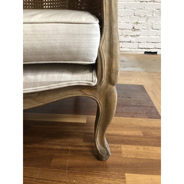2010s Porters Style Balloon Caned Chair For Sale - Image 5 of 13