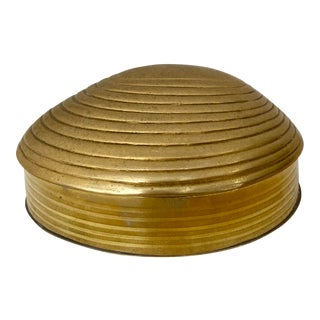 Vintage Brass Shell Box For Sale