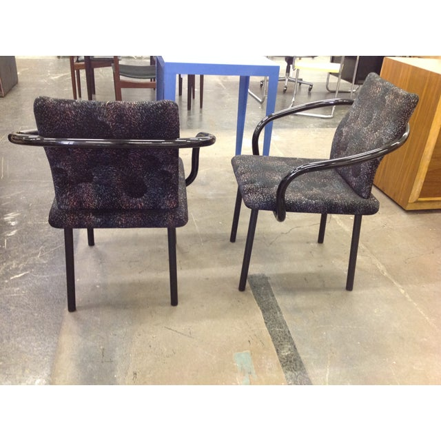 Knoll Ettore Sottsass Mandarin Chairs - A Pair - Image 5 of 9