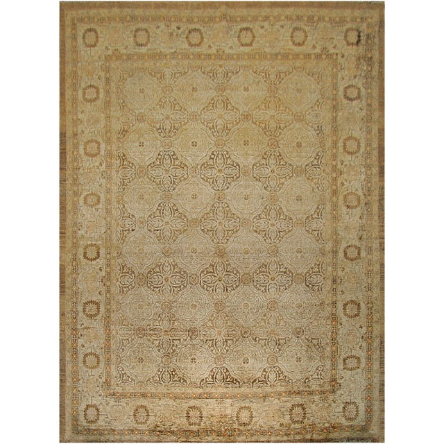 """Persian Mansour Genuine Handwoven Agra Rug - 8'2"""" X 10'9"""" For Sale - Image 3 of 3"""