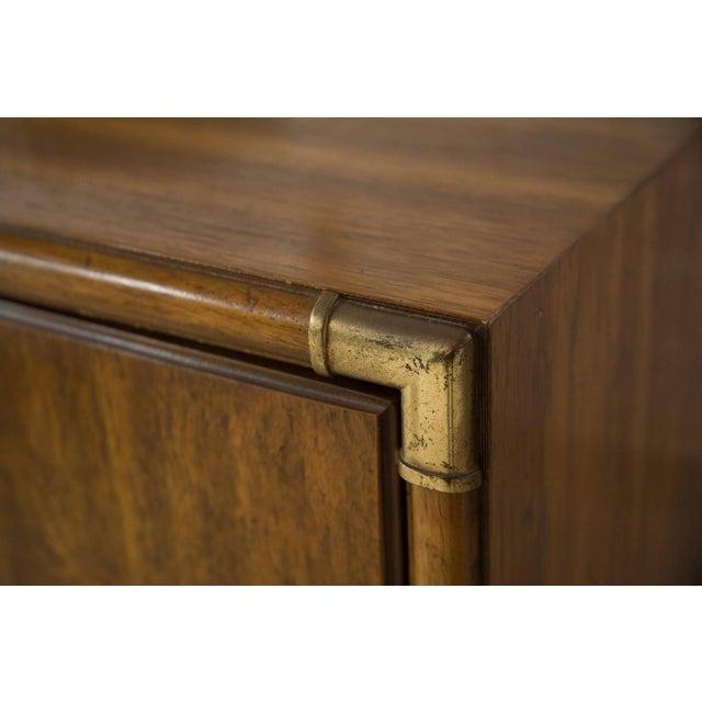 Chocolate Vintage Campaign Nine Drawer Dresser by Drexel For Sale - Image 8 of 13