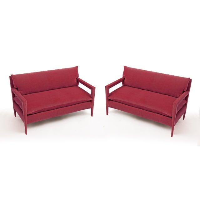 Jared Bond 1970s Vintage Milo Baughman Style Parsons Sofa - a Pair For Sale - Image 4 of 4