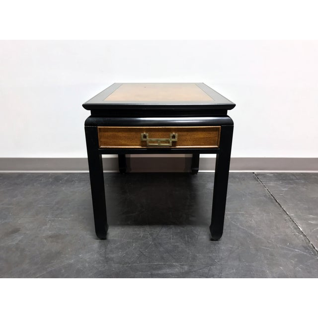 Asian Century Chin Hua by Raymond K Sobota Burl Wood & Lacquer End Side Table 2 For Sale - Image 3 of 12