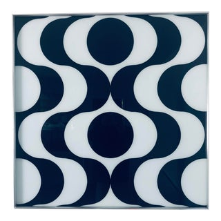 Space Age Pop Modern Turner Op Art Reverse Painted Glass Wall Element For Sale