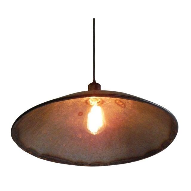 Large Hubcap Pendant Light For Sale