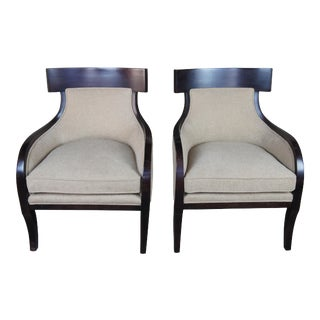 McCreary Modern Slope Arm Chairs- A Pair For Sale