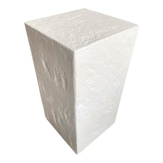 Style of Sirmos Quarry Stone White Plaster Pedestal For Sale
