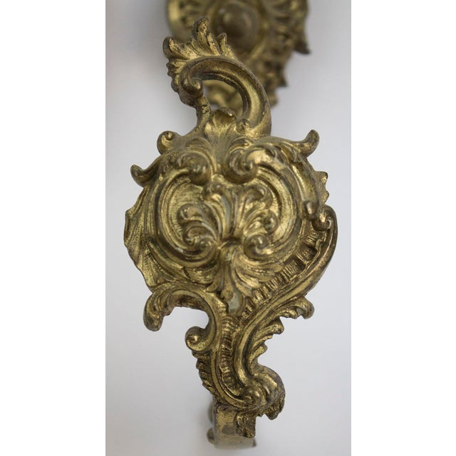 Baroque Antique Bronze Drapery Holdbacks - A Pair For Sale - Image 3 of 7