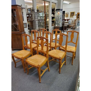 Early 20th Century French Provincial Dining Chairs - Set of 8 Preview