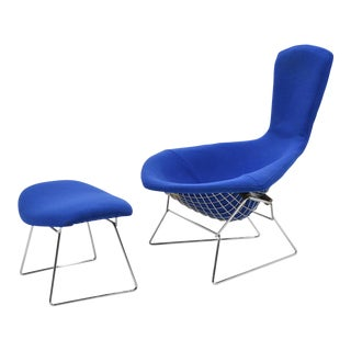 Harry Bertoia Bird Chair and Ottoman by Knoll