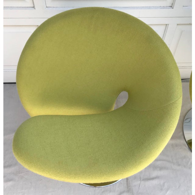 Metal 1980s Vintage Post Modern Spiral Chairs- A Pair For Sale - Image 7 of 8
