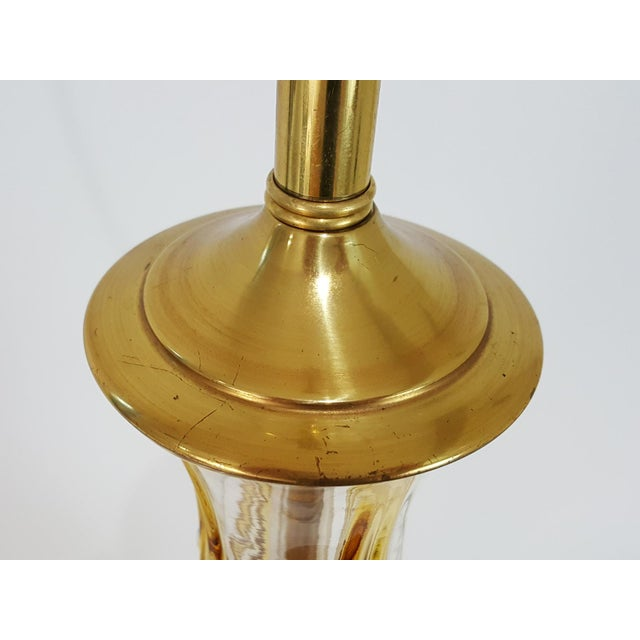 Mid-Century Modern Butterscotch Murano Glass Lamp For Sale - Image 9 of 11