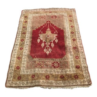 "Hand Made Vintage Turkish Area Rug- 2'6""x3'10"" For Sale"