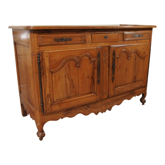 18th Century French Cherry Wood Buffet For Sale