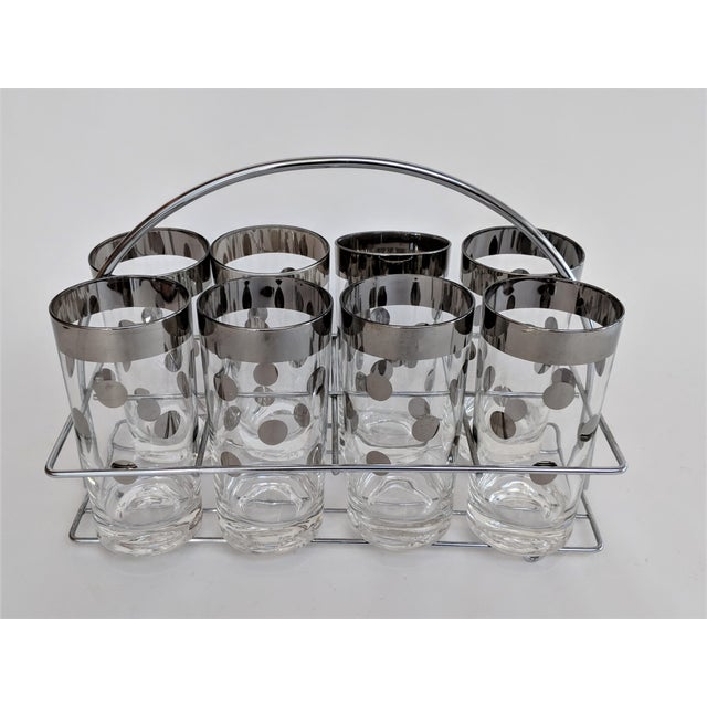 Dorothy Thorpe Polka Dot Glasses With Holder - Set of 8 - Image 8 of 11