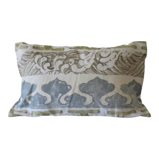 Jim Thompson Design Fabric Pillow For Sale