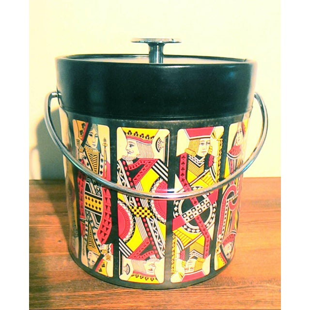 Mid-Century Card Theme Ice Bucket - Image 2 of 7
