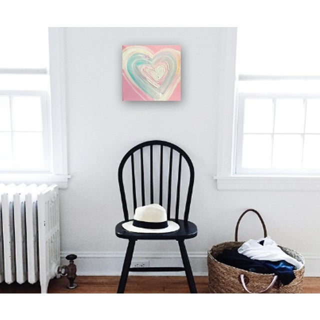 'Cotton Candy Heart' Original Painting by Linnea Heide - Image 2 of 4