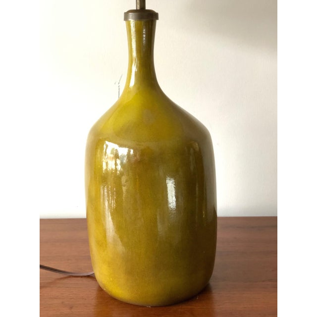 1960s Vintage Jacques & Dani Ruelland Ceramic Lamp For Sale In Tampa - Image 6 of 12