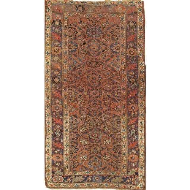 Hand Knotted Persian Style Wool Pile Area Rug: Pasargad NY Antique Persian Hamadan Hand Knotted Wool