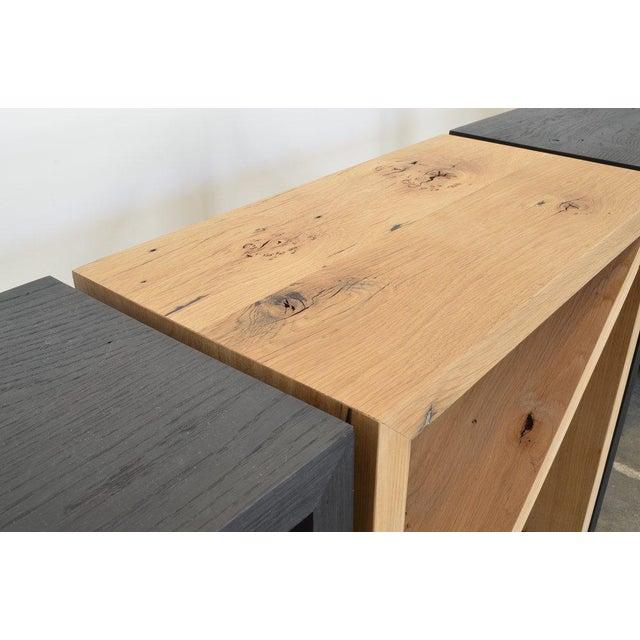 Ozshop Isosceles Side Tables Natural Oak For Sale - Image 4 of 7