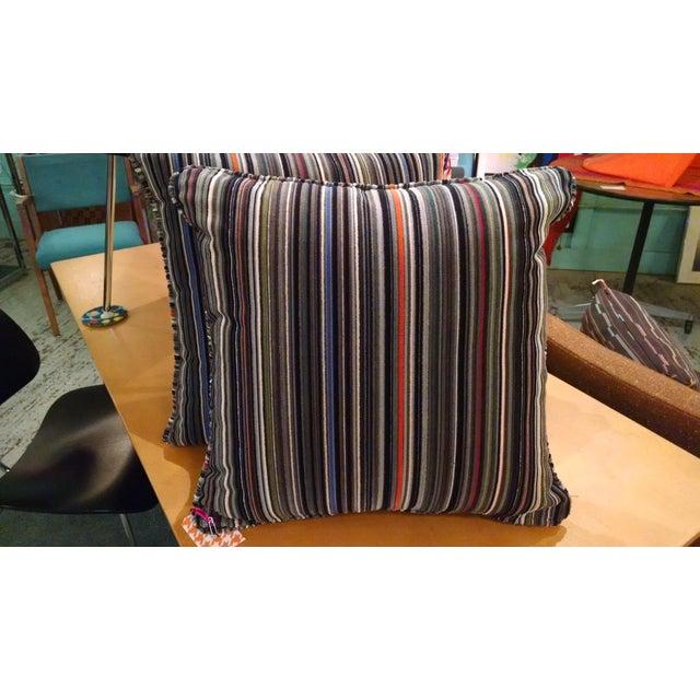 Maharam Paul Smith Epingle Stripe Pillows - A Pair - Image 4 of 6