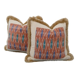 Custom Designer Ikat Pillows - A Pair