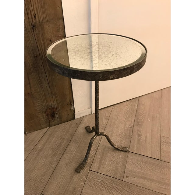 Rustic Grey Side Table For Sale - Image 3 of 7