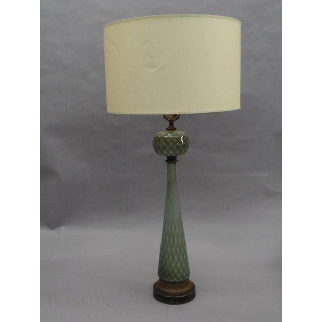 Pair of 1930s Large Modern Neoclassical Murano Glass Table Lamps For Sale In New York - Image 6 of 6