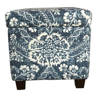 Ralph Lauren Upholstered Ottoman Storage Cube For Sale