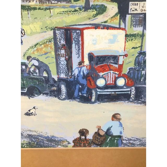 1940s 1940s Vintage Harry Shokler Pinkerton's Corner Original Painting For Sale - Image 5 of 8