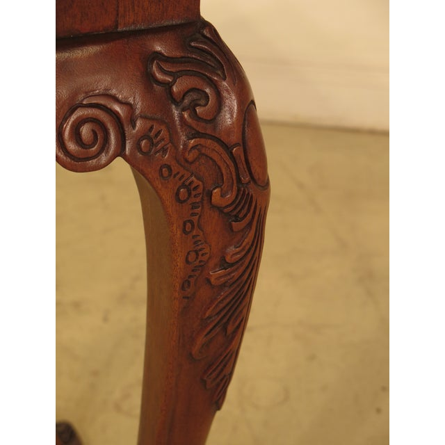 Wellington Hall Georgian Style Carved Mahogany Console Table - Image 4 of 11