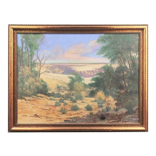 'The Grand Canyon, Evening' by W. H. McConnell, 1936; Large Western Landscape Oil, United Scenic Artists For Sale