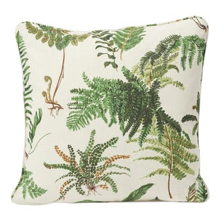 Schumacher Pillow in Les Fougeres Double-Sided Print For Sale