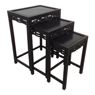 Chinese Export Ebonized Nesting Tables, Circa 1900 For Sale