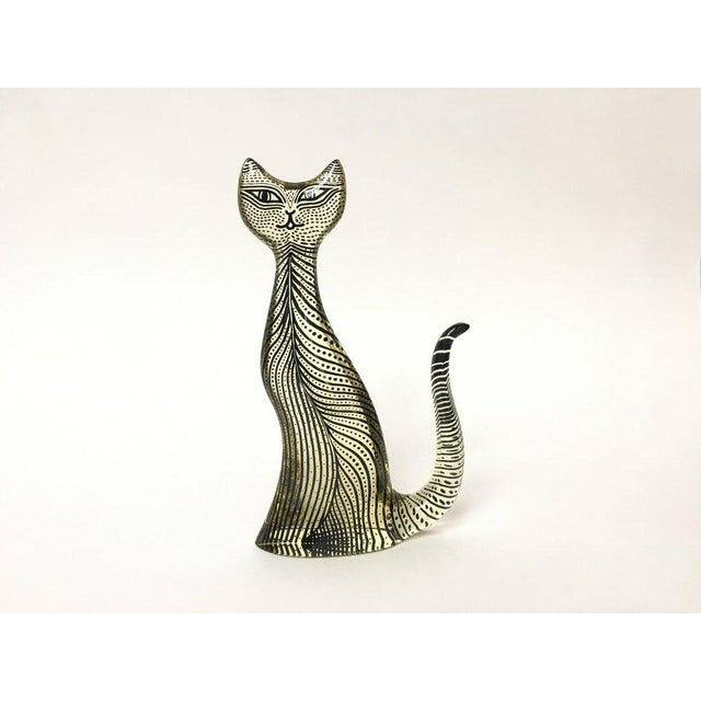 """Acrylic cat from Brazilian artist Abraham Palatnik's line of op-art animals sometimes known as """"Pals"""". This cat was..."""